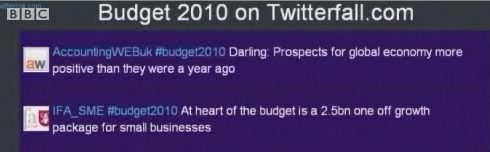 BBC broadcasts AccuontingWEB Budget tweet