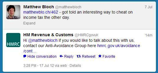 @HMRCgovuk on the trail of Twitter tax evader