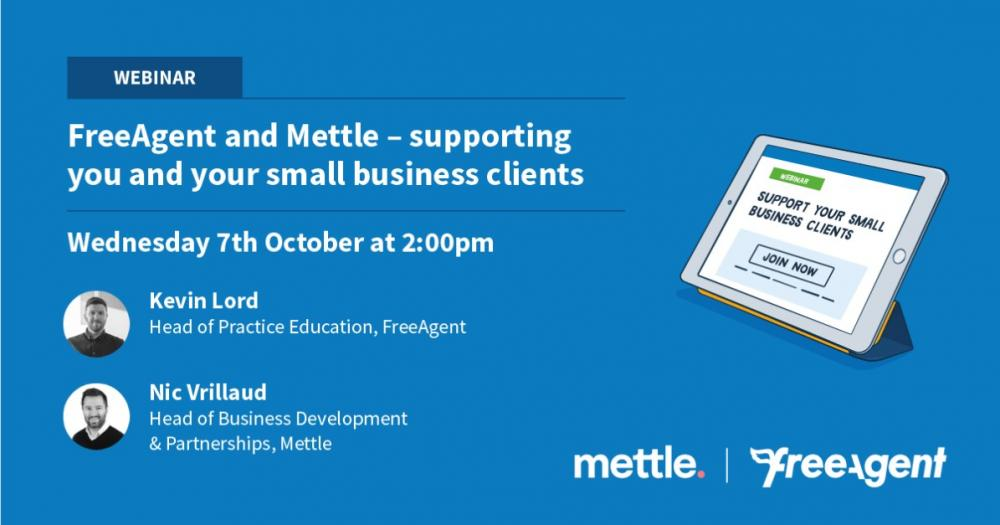 FreeAgent and Mettle - supporting you and your small business clients