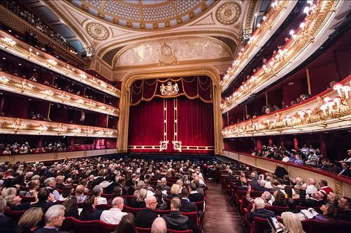 Royal Opera House at Covent Garden, full, in pre-Covid days