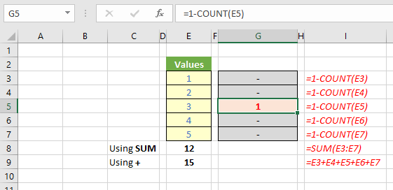 Count Excel