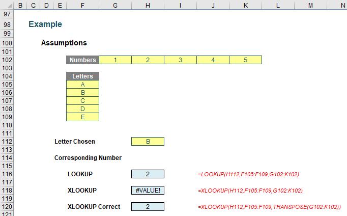 HLOOKUP and VLOOKUP