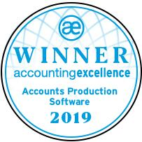 Accounts Production Software Winner 2019 Accounting Excellence Award