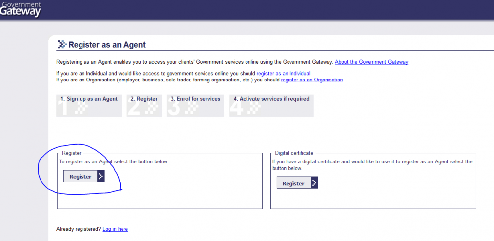 government gateway login