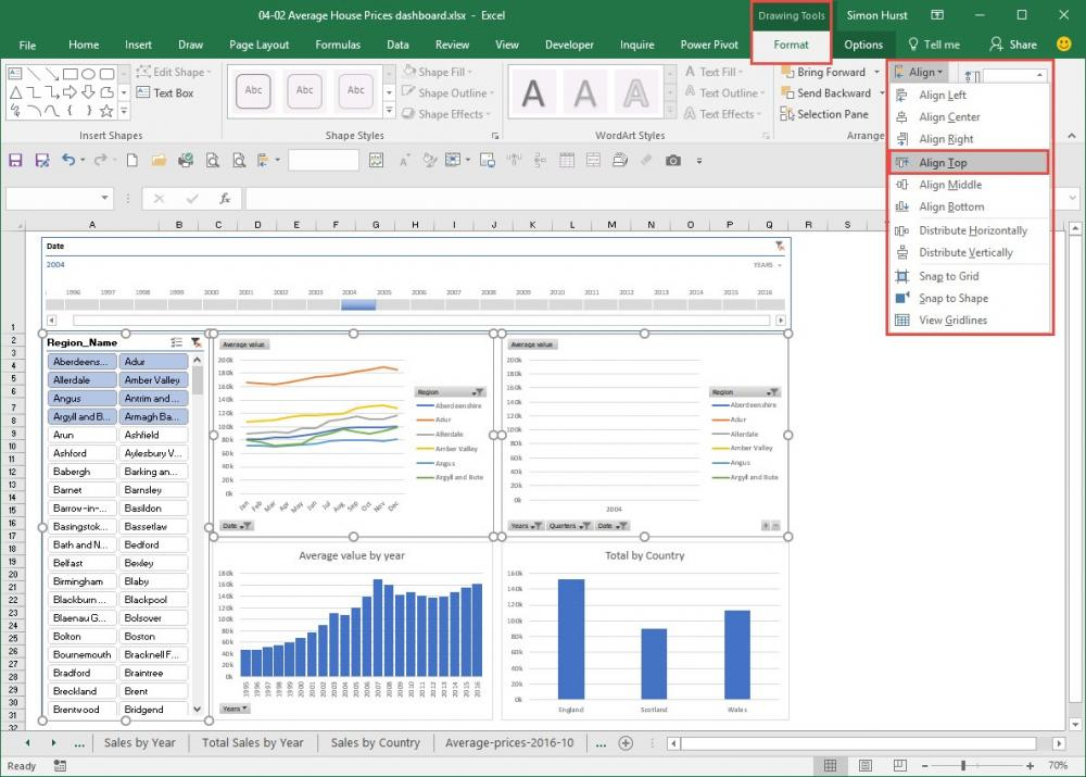 EZ guide to PivotTables – an interactive dashboard