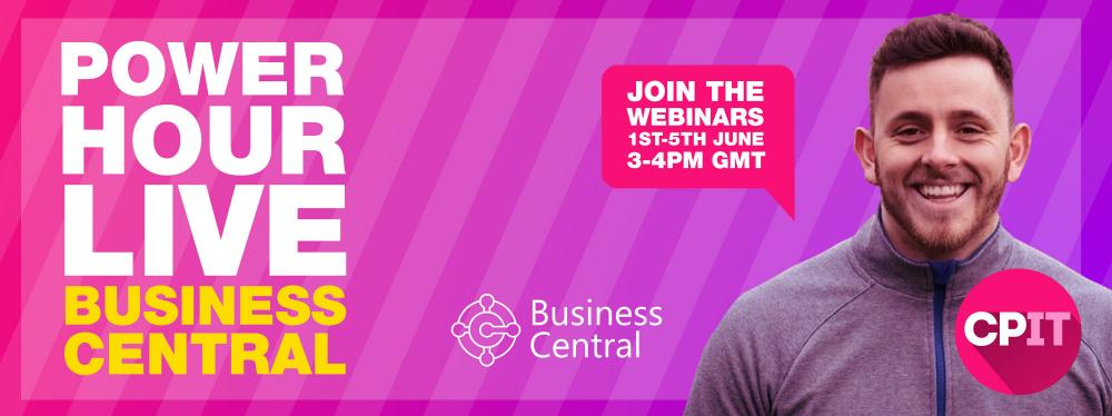 Join us for a week of Microsoft Dynamics 365 Business Central Webinars with PowerHour Live