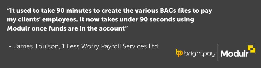 Customer testimonial pay directly through your payroll software