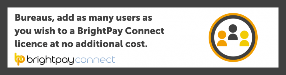 Bureaus, add as many users as you wish to a BrightPay Connect licence at no additional cost.
