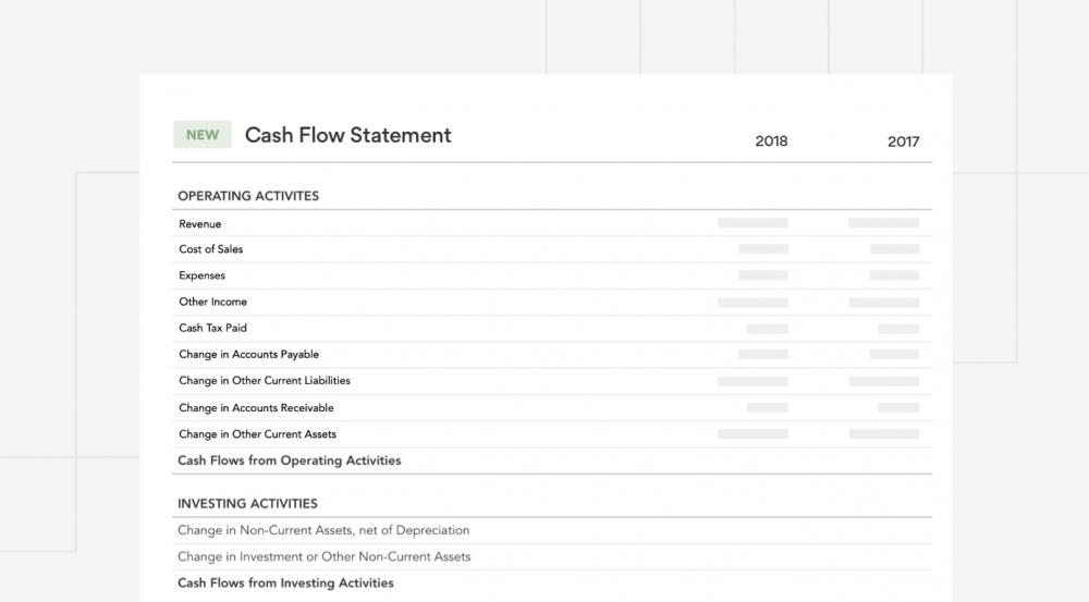 Fathom New Cash Flow Statement