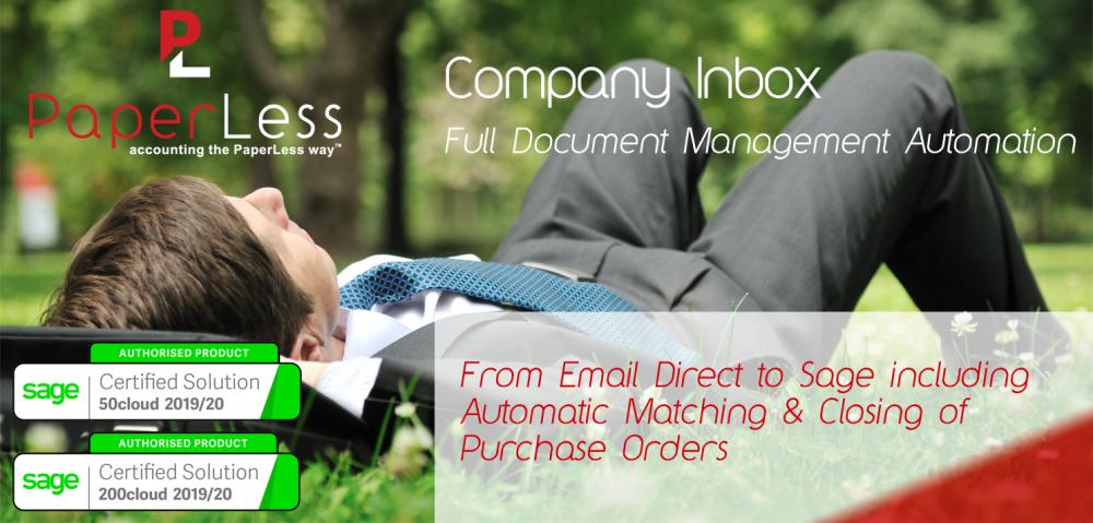 Full Invoice Processing Automation with PaperLess Company Inbox for Sage. Automate processing of invoices received via email by setting up automation rules to the emails received from your suppliers.