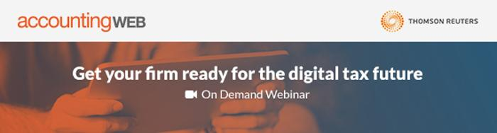 Get your firm ready for the digital tax future - webinar banner
