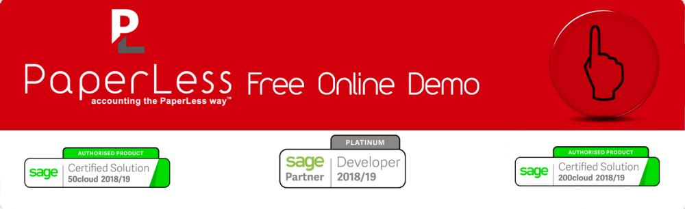 Book your Free Online Demo of PaperLess Document Management for Sage and find out why thousands of Sage users are choosing this document management solution to automate invoice processing routines and document management processes.