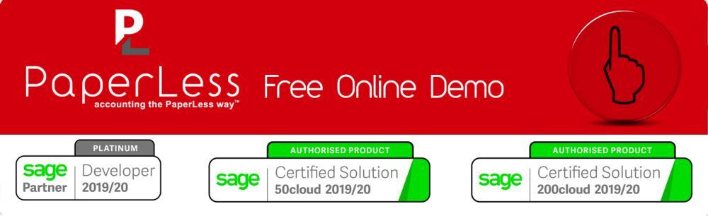 Document Management Software with built-in OCR for Sage 50cloud, Sage 200cloud, Sage 200 Standard Online and Sage 200 Standard Online