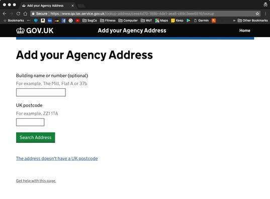 Enter agency address