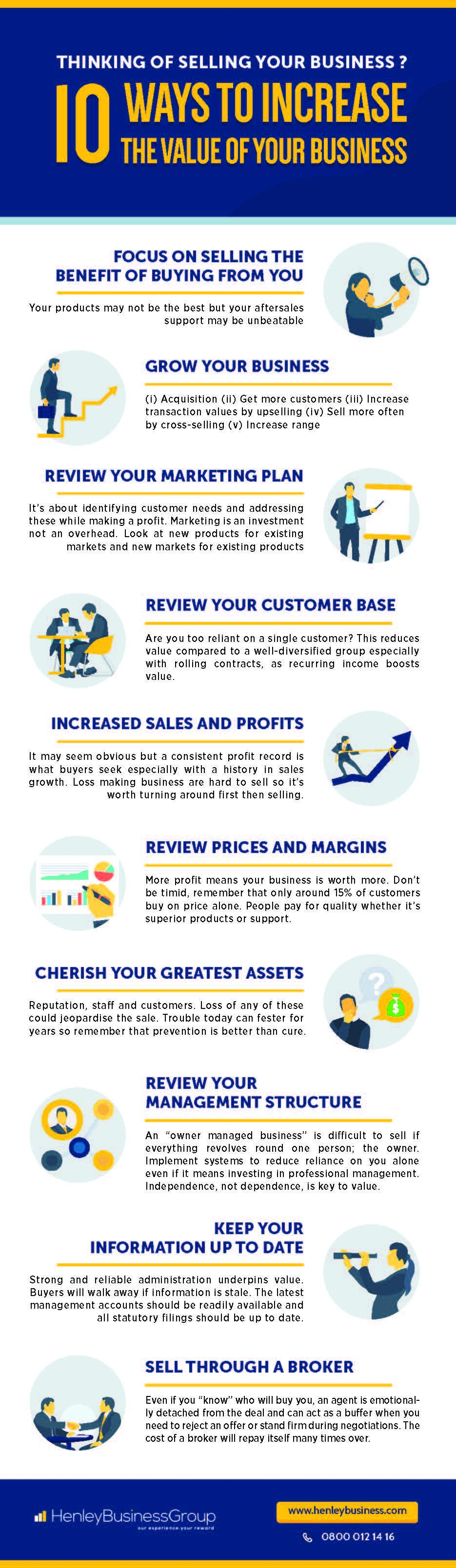 10 ways to increase the value of a business when selling