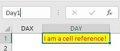 Day1 cell reference