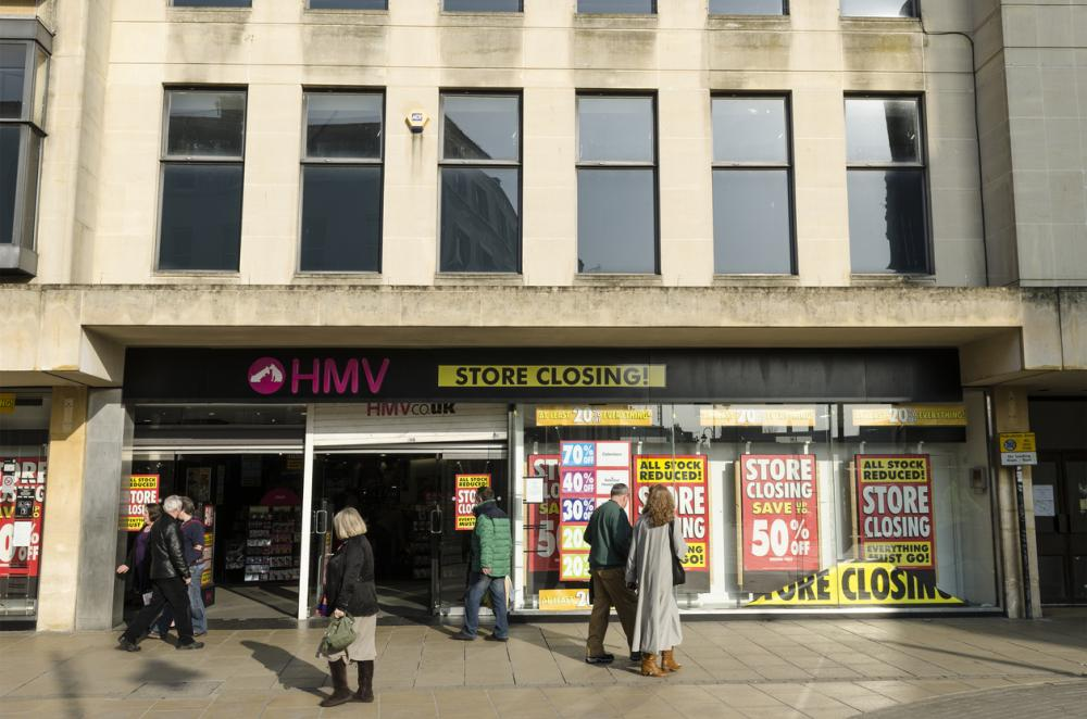 HMV store closing down