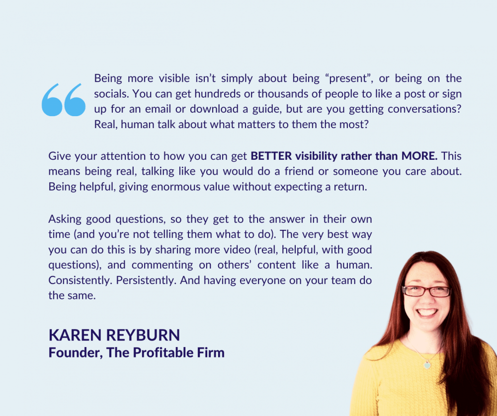 Karen Reyburn on Improving Your Firm's Visibility