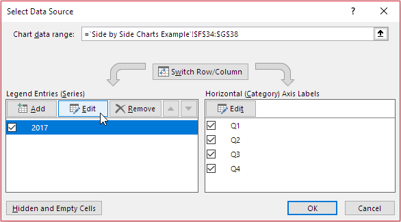 data converted into a dialog box