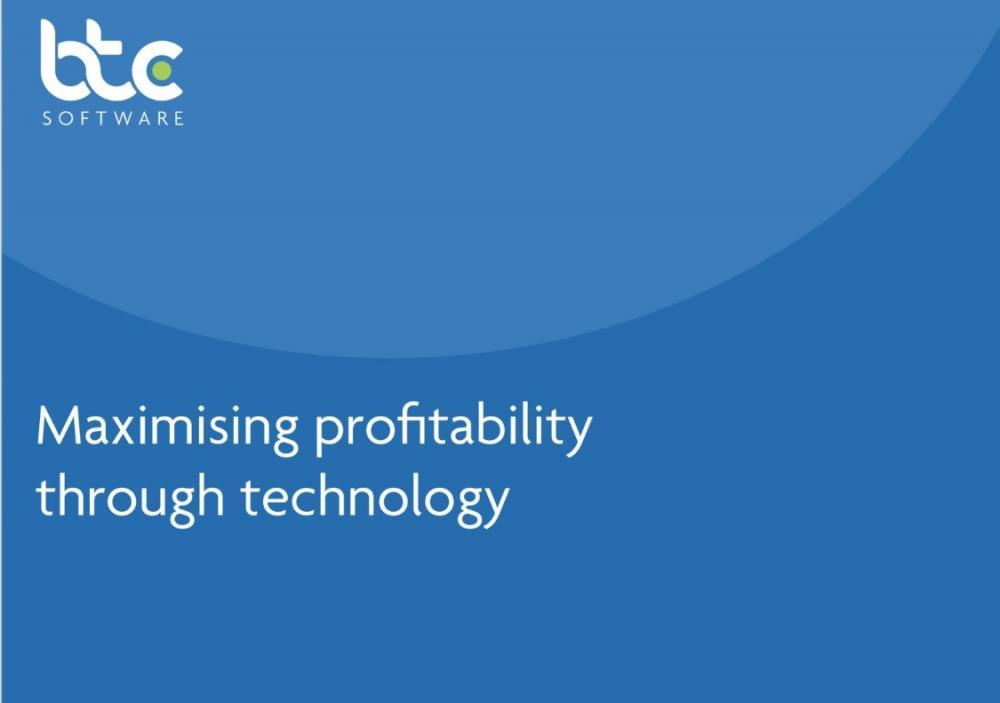 Maximising profitability through technology BTCSoftware whitepaper front page