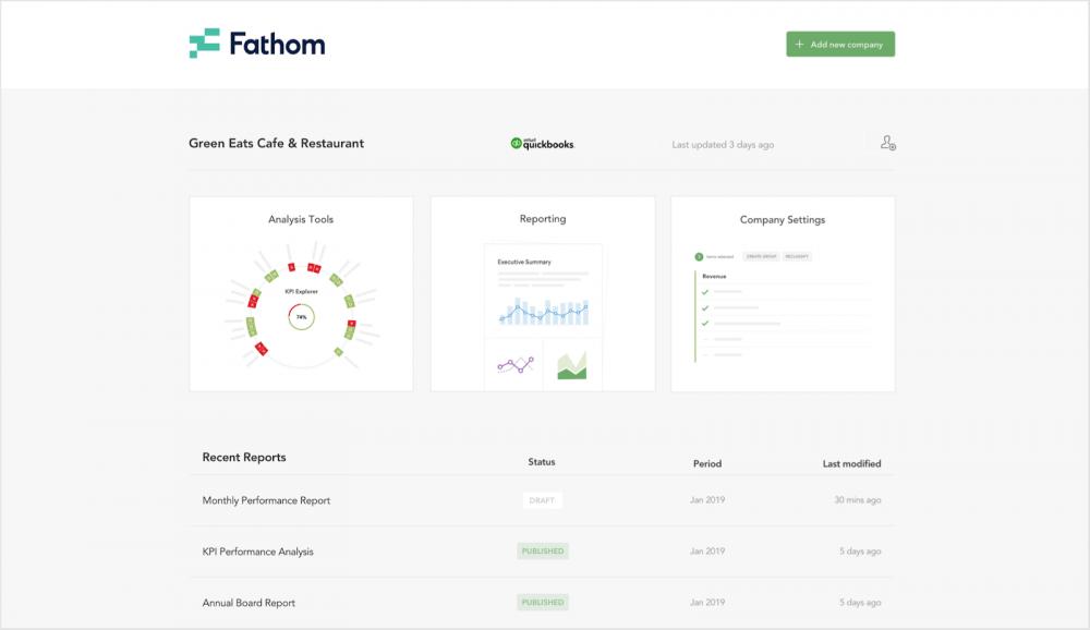my companies screenshot fathom