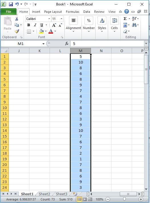 Step 1: Collect NPS survey responses in an Excel column