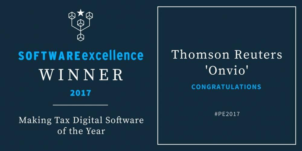 Thomson Reuters Onvio wins MTD Software of the Year