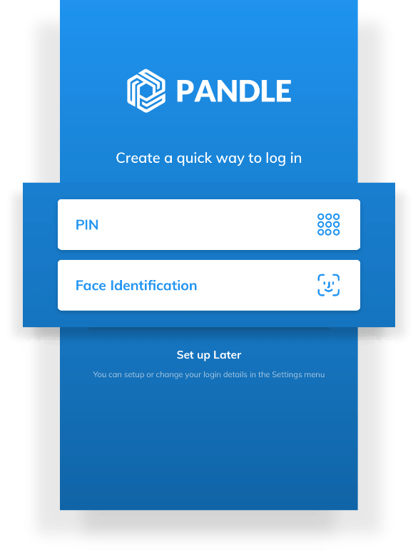 Pandle biometric login