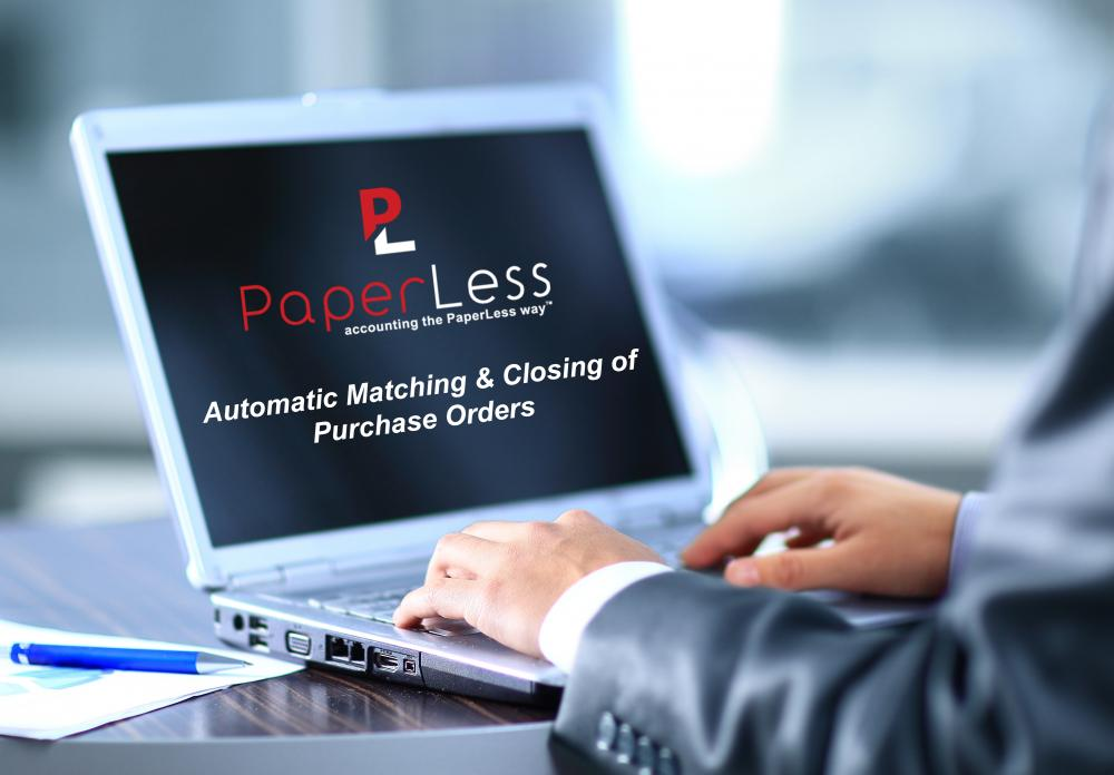 PaperLess Automatic Matching and Closing of Purchase Orders for Sage 50 and Sage 200 with Document Management Software