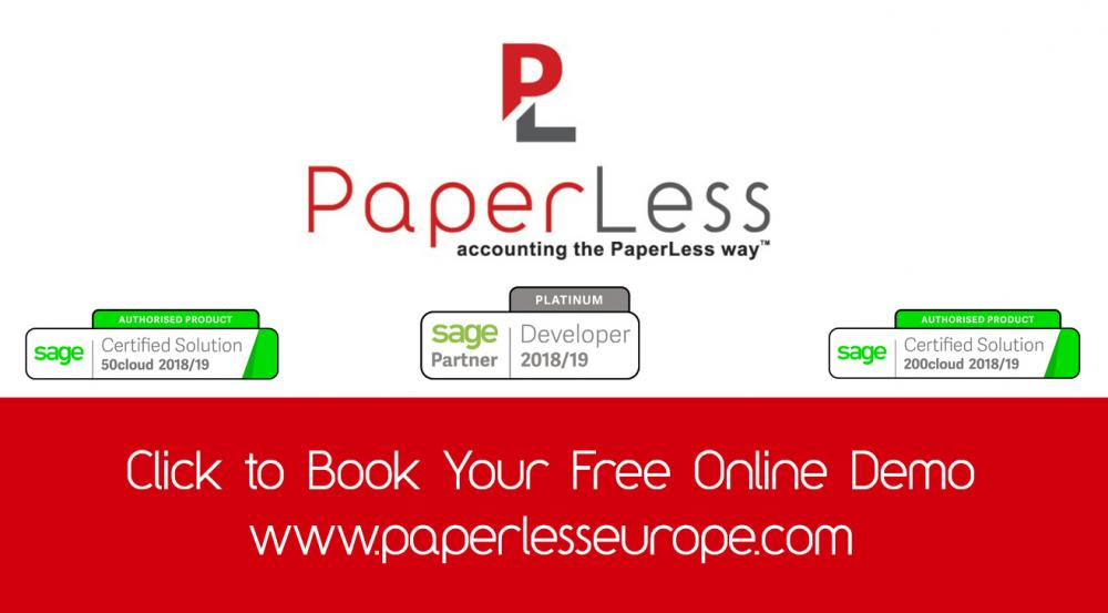 PaperLess Document management software is the preferred solution of CFOs to automate invoice scanning and invoice processing routines all seamless integrated with their Sage accounting package.