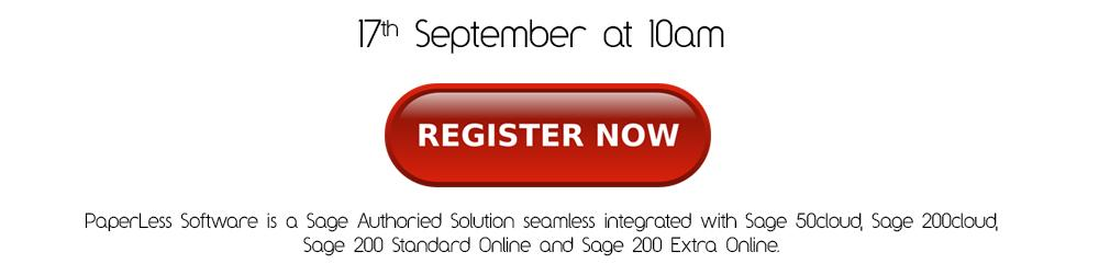 Sage 200 document management  Free Webinar with PaperLess Automation Software for Sage.