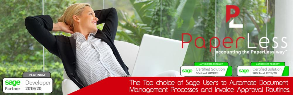 PaperLess for Sage Automation pack offers automatic data capture, online invoice approval and attach of invoices directly into Sage. Click here to find out more about the top choice of Sage accounts users to automate document management processes.
