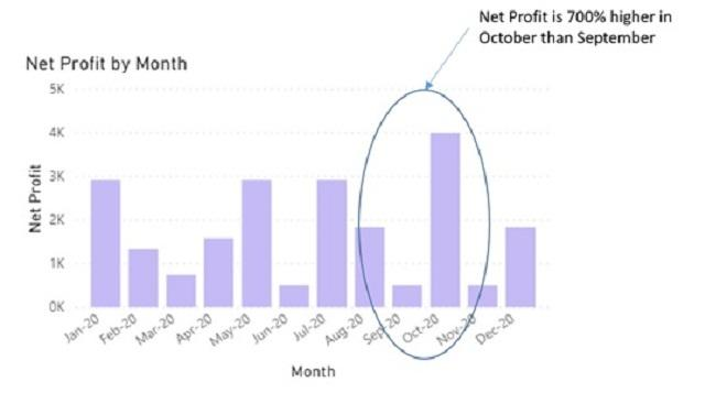 Monthly P&L adjusted for overheads