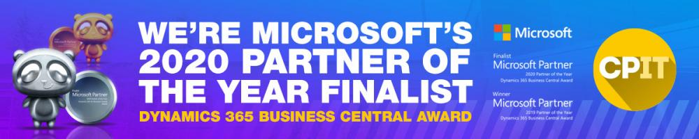CPIT 2020 Microsoft Business Central Partner of the Year Finalist