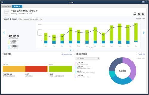 Quickbooks Screenshot 2016