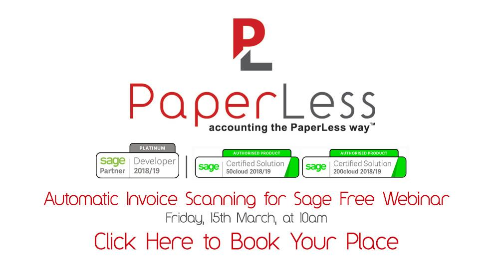 Sage Automatic Invoice Scanning Software Free Webinar will enable you to find out why is PaperLess the preferred choice of Sage users to automate invoice processing and invoice scanning routines.