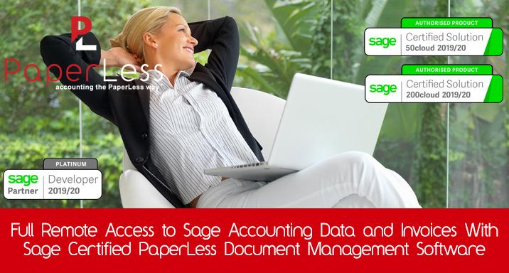 Sage Remote Access with PaperLess Document Management is the best way for Sage users to work remotely and keep control over invoice processing and invoice approval routines.