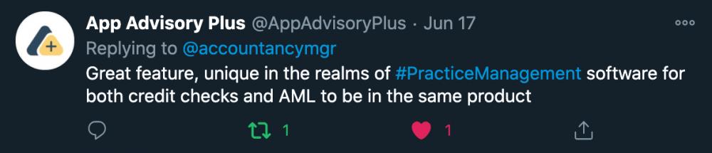 Image showing App Advisory Plus tweet