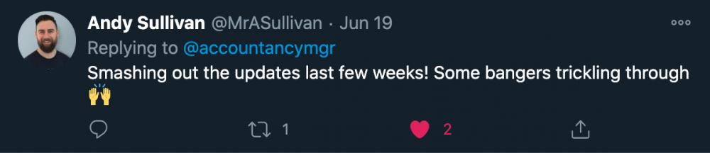 Image showing Andy Sullivan tweet