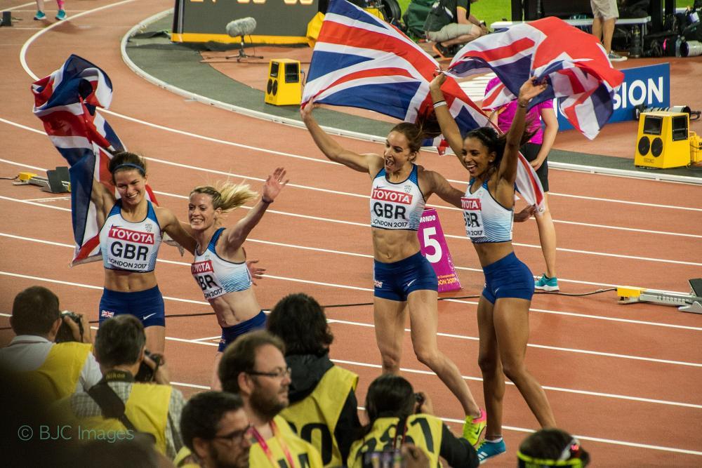 Team GB winning gold