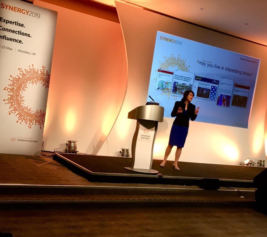 Charlotte Rushton presenting the keynote