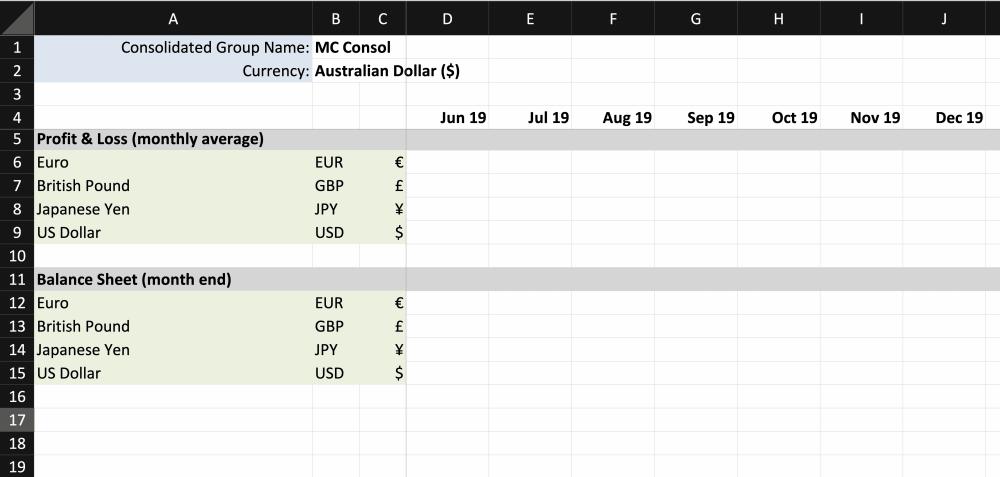 Fathom custom fx rates spreadsheet upload