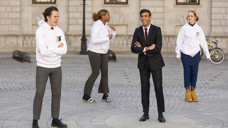 The Chancellor meets a group of Kickstarters