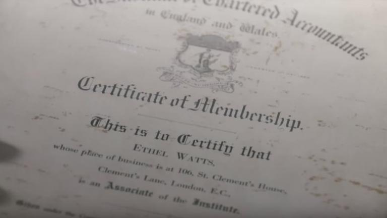 Ethal Watts certificate