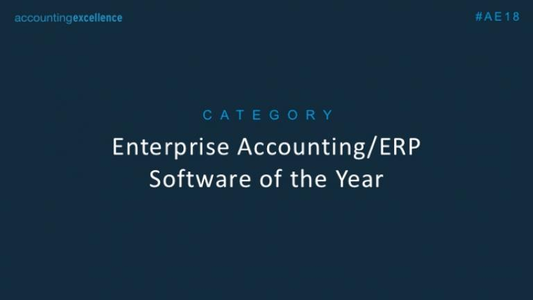 Enterprise Accounting/ERP Software of the Year