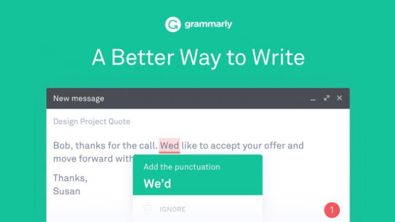 Screenshot of Grammarly tool