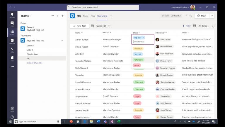 Microsoft Teams interface image