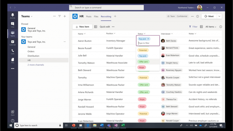 Microsoft Teams interface image