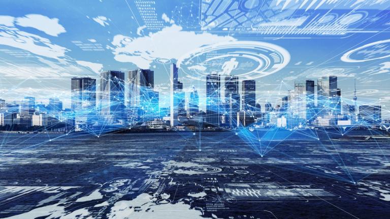 Smart city concept.