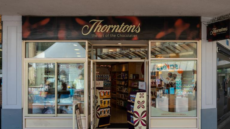 The Frontage of Thorntons Chocolate Store